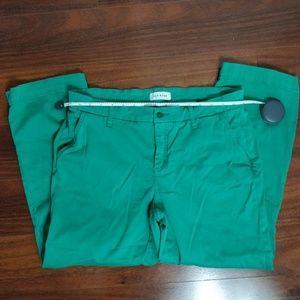 Lila Ryan Cropped Chino Shamrock Pant Size 12